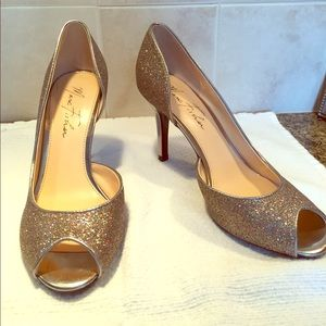 Multi-color sparkle Marc Fisher heels